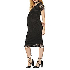 Dorothy Perkins - Maternity black lace knot front dress