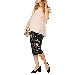Dorothy Perkins - Maternity black lace pencil skirt