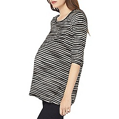 Dorothy Perkins - Maternity black and beige stripe t-shirt