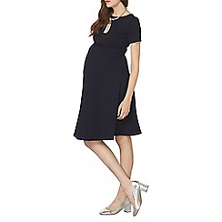 Dorothy Perkins - Maternity navy empire waist fit dress