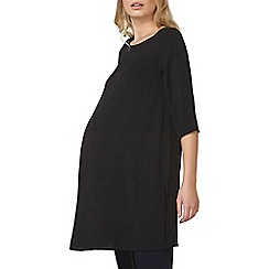 Dorothy Perkins - Maternity black side split tunic