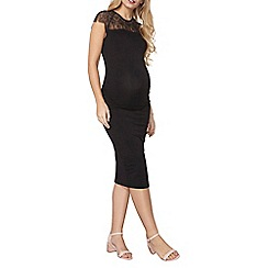 Dorothy Perkins - Maternity lace yoke bodycon dress