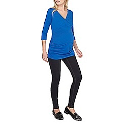 Dorothy Perkins - Maternity blue ruched wrap top