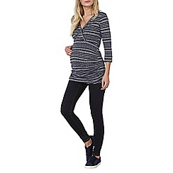 Dorothy Perkins - Blue maternity heart wrap top