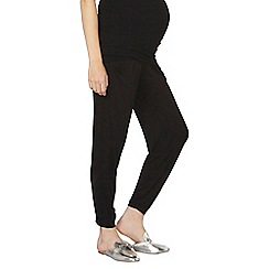 Dorothy Perkins - Maternity black overbump jogging bottoms