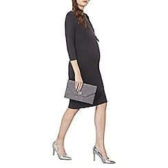 Dorothy Perkins - Maternity slate cupro side tucks bodycon dress