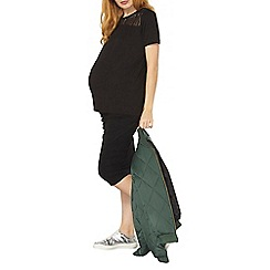 Dorothy Perkins - Maternity black mesh yoke top