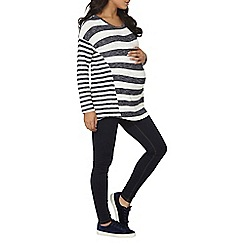Dorothy Perkins - Maternity navy and ivory stripe jumper