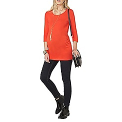 Dorothy Perkins - Maternity red scoop neck t-shirt