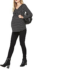 Dorothy Perkins - Maternity black and white striped top