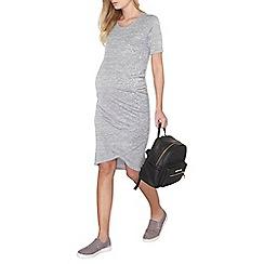 Dorothy Perkins - Maternity grey wrap hem dress