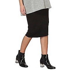Dorothy Perkins - Maternity black tube skirt