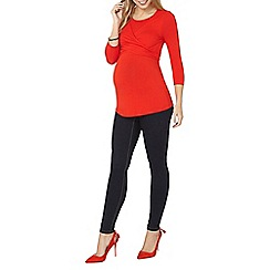 Dorothy Perkins - Maternity red ballet wrap top