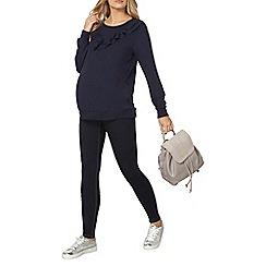 Dorothy Perkins - Navy ruffle sweatshirt