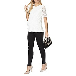 Dorothy Perkins - Maternity ivory floral lace front t-shirt