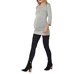 Dorothy Perkins - Grey maternity lace mock wrap top
