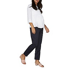 Dorothy Perkins - Maternity navy spot straight trousers