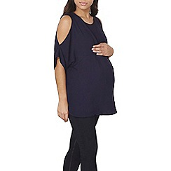 Dorothy Perkins - Maternity navy pleat detailed top