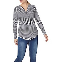 Dorothy Perkins - Maternity stripe wrap top