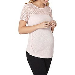 Dorothy Perkins - Maternity nude pom pom lace t-shirt