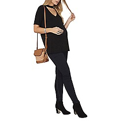 Dorothy Perkins - Maternity black choker top