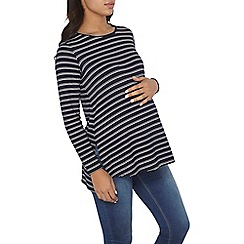 Dorothy Perkins - Maternity navy and ivory tunic top
