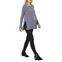 Dorothy Perkins - Maternity slate oversized ribbed tunic