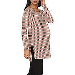 Dorothy Perkins - Maternity pink and black stripe oversized tunic top
