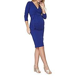 Dorothy Perkins - Maternity cobalt self-tie wrap dress