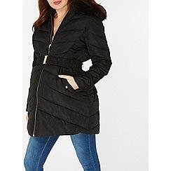 Dorothy Perkins - **maternity black fur puffa jacket