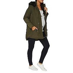 Dorothy Perkins - **maternity fur trim parka coat