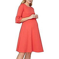 Dorothy Perkins - Maternity 3/4 fluted sleeve dress