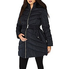 Dorothy Perkins - **maternity navy faux fur padded jacket