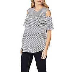 Dorothy Perkins - Maternity cold shoulder ruffle top