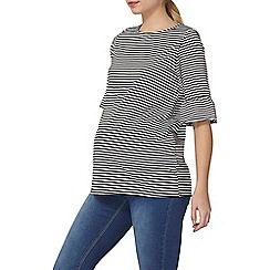 Dorothy Perkins - Maternity striped frill sleeves top