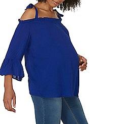 Dorothy Perkins - Maternity cobalt flute sleeve tie top