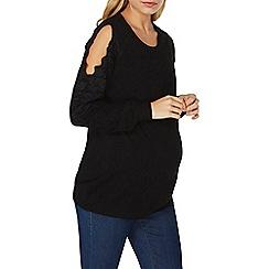 Dorothy Perkins - **maternity lace detail cold shoulder jumper