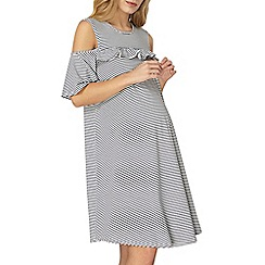Dorothy Perkins - Maternity stripe cold shoulder dress