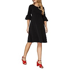 Dorothy Perkins - Maternity black lace fit and flare empire dress