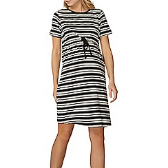 Dorothy Perkins - **maternity black and white striped dress