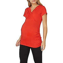 Dorothy Perkins - **Maternity red short sleeve tie top