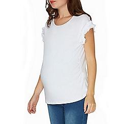 Dorothy Perkins - **maternity ivory ruffle sleeves t-shirt