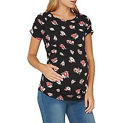 Dorothy Perkins - **maternity black spot and floral print top