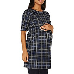 Dorothy Perkins - **maternity blue checked tunic top