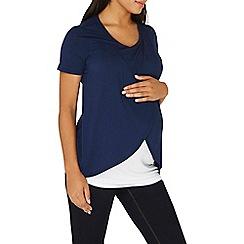 Dorothy Perkins - **maternity navy drape front top
