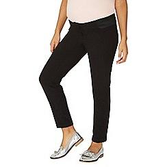 Dorothy Perkins - Maternity black straight leg trousers