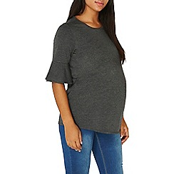 Dorothy Perkins - **maternity charcoal double layer top