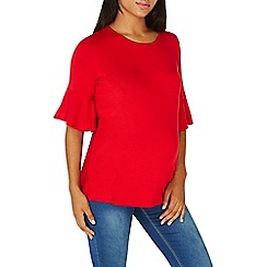 Dorothy Perkins - **maternity red double layer sleeves top