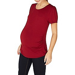 Dorothy Perkins - **maternity berry puff sleeves top