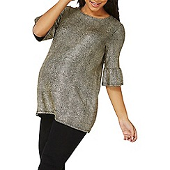 Dorothy Perkins - **maternity gold flute sleeves top